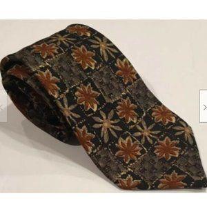 Ermenegildo Zegna Floral Print Silk Neck Tie